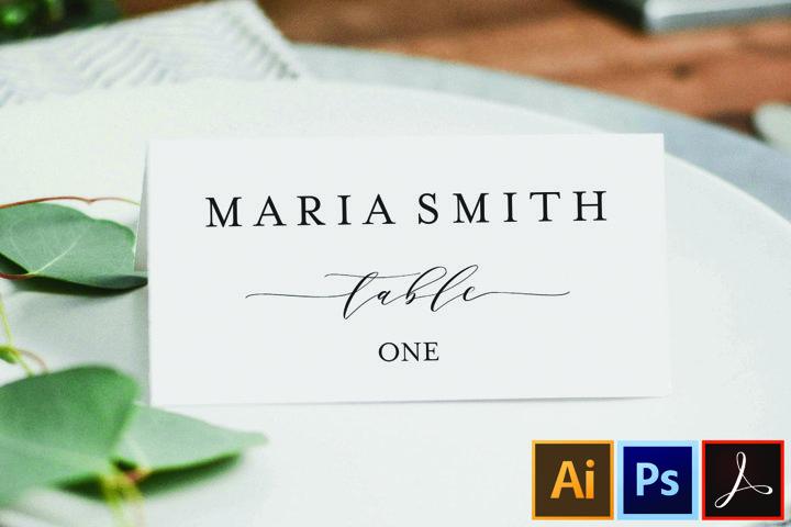 Custom Wedding Reception Place Cards, Wedding Place Card