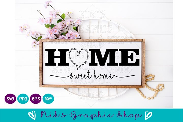Baseball Svg, Home Sign Svg, Home Sweet Home Svg