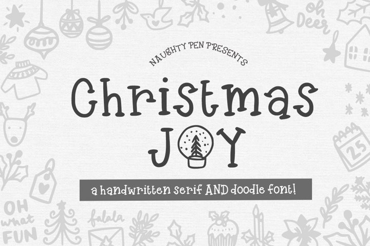 Christmas Joy - Handwritten Serif and Doodle Font