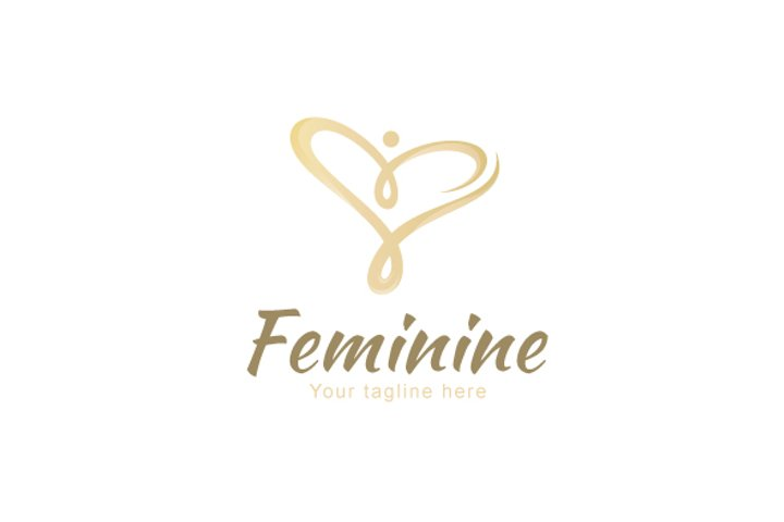 Feminine - Women Figure Stock Logo Design