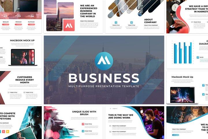 Business 61 Creative Slide - PowerPoint Template
