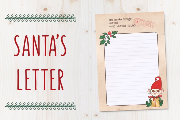 SANTAs LETTER TEMPLATE - Christmas letter by TdT