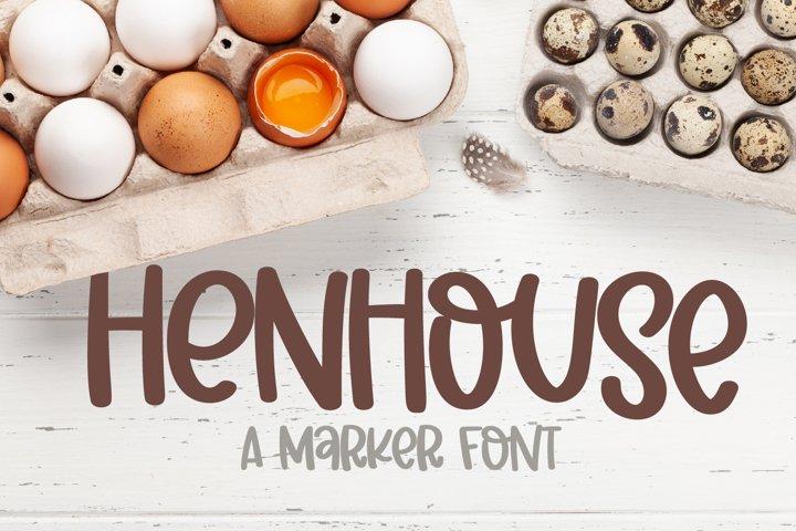 Henhouse - A Marker Font