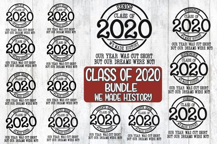 ALL GRADES BUNDLE -Class Of 2020 - History - SVG PNG EPS DXF
