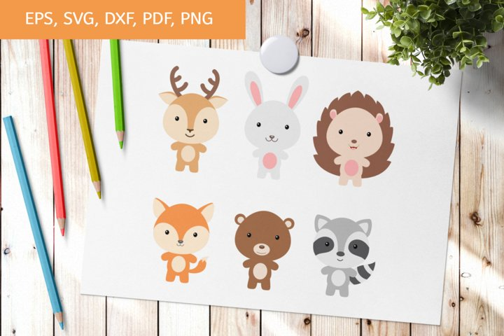 Cute Nursery Animals SVG, Cut Files, Clipart, Printables