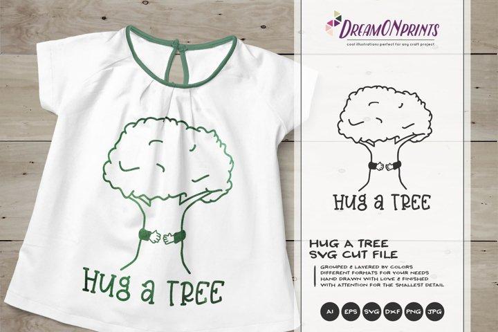 Hug a Tree SVG | Tree SVG Cut File