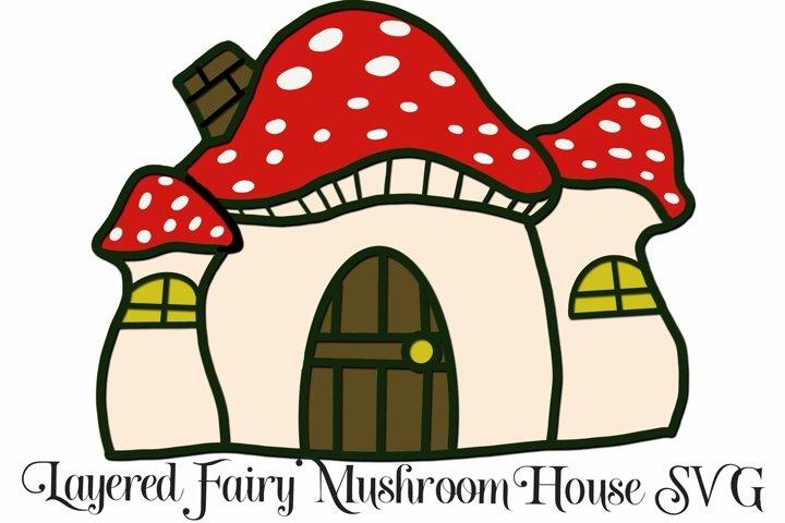 Fairy Mushroom House 3D Layered SVG File