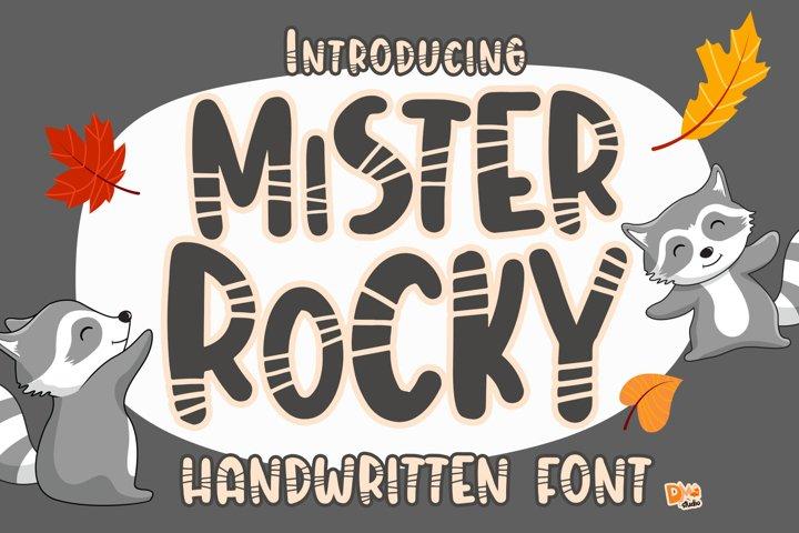Mister Rocky - Handwritten Font
