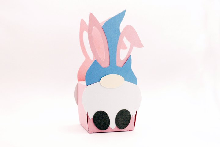 Easter bunny gnome box svg
