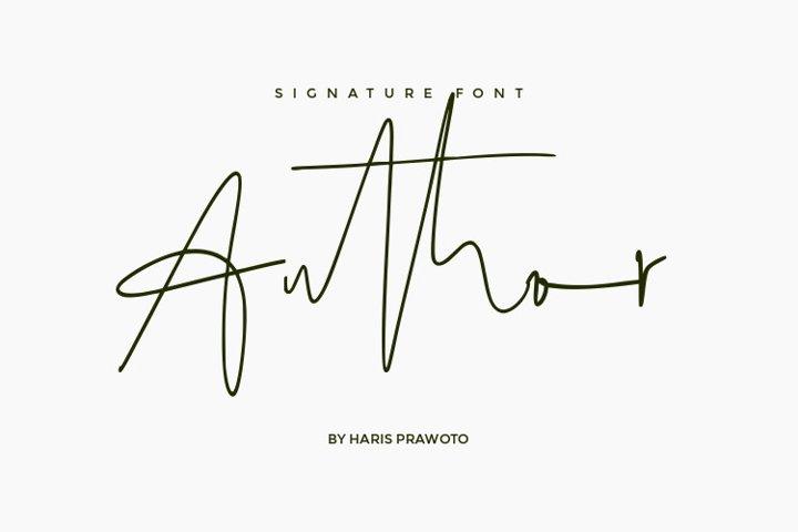 Author Signature Font