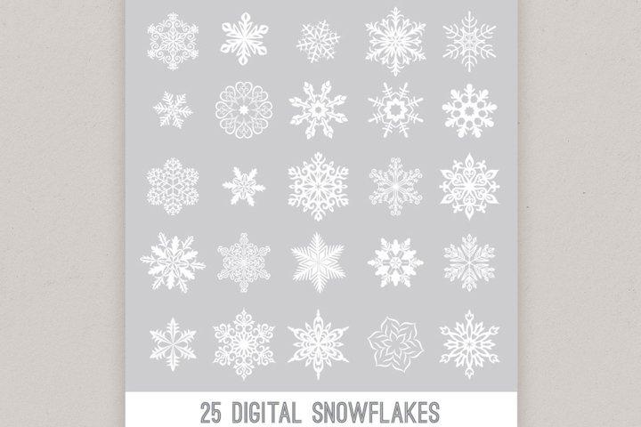 Digital Snowflake Designs, Vector Snowflakes PNG winter snow