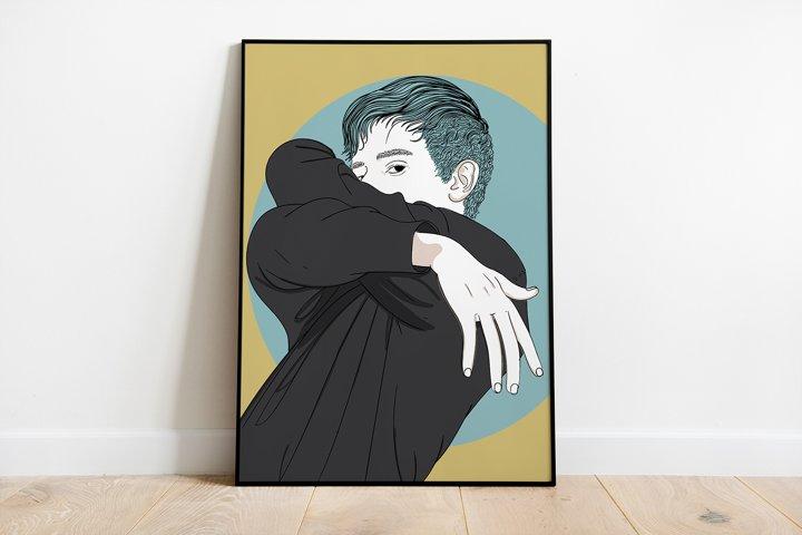 Art Print | Wall Art,Art fashion man dancing