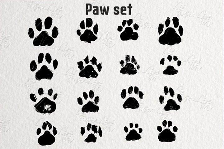 Ink Dogs Paw print Set illustration