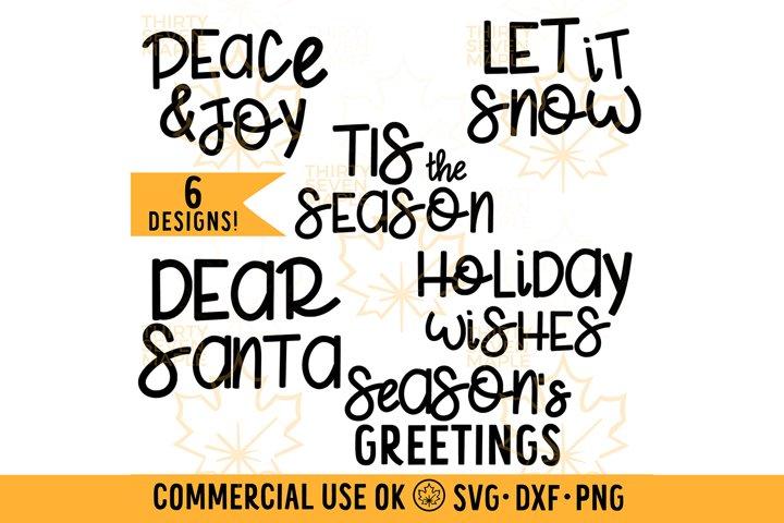 Holiday Words Bundle
