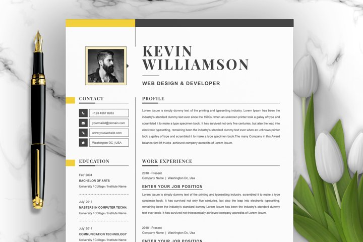 Professional 3 Page Resume Template
