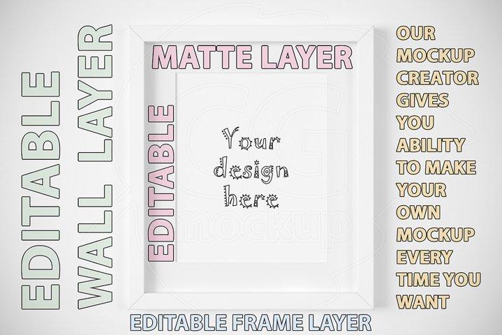 White frame mockup CREATOR 8x10 inch