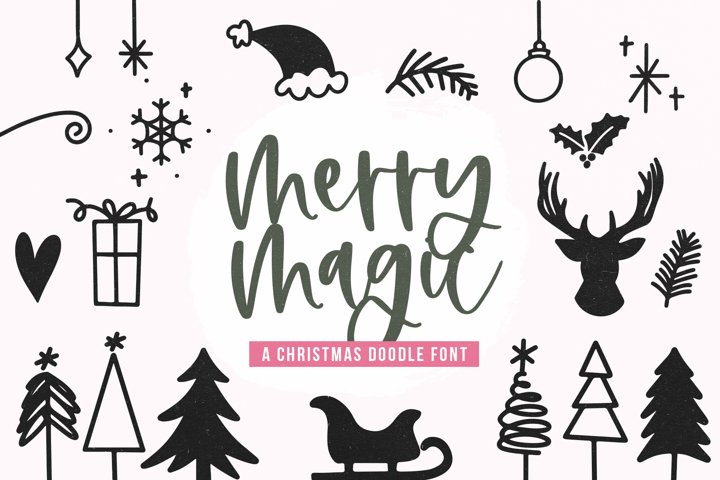 Merry Magic - Christmas Doodle Font