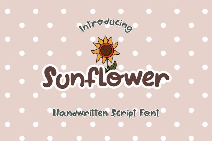 Sunflower - A Cute Handwritten Font