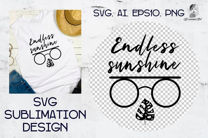 Summer quote with sunglasses - Cut SVG for Crafters!