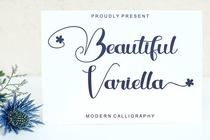 Beautiful Variella - Modern Calligraphy Font