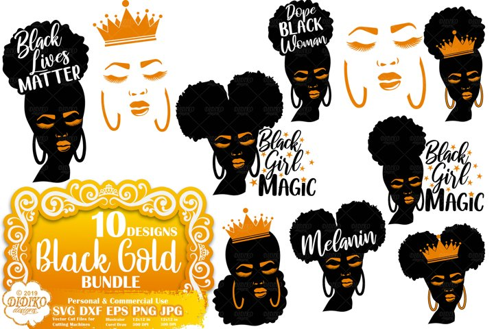 Black Woman SVG Bundle | Black Lives Matter SVG | Melanin