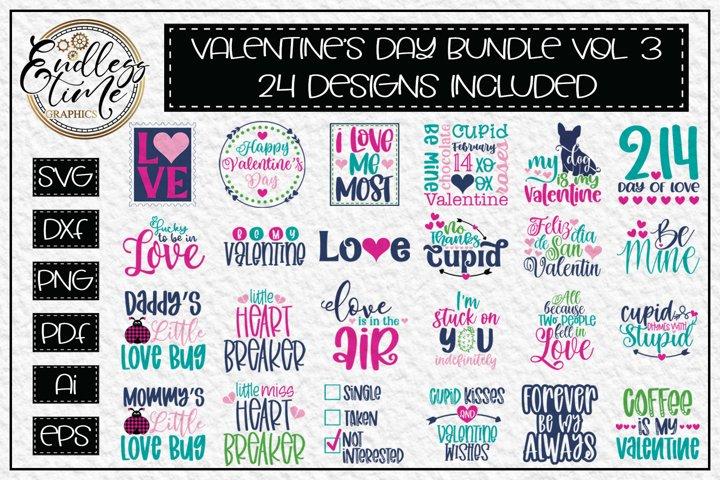 Valentines SVG Bundle Vol 3 - 24 Valentines Day SVG Designs