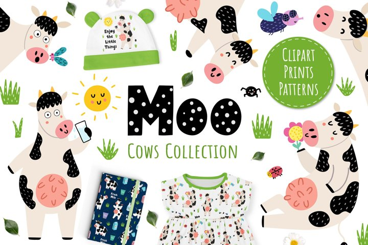 Moo Collection - Clipart & Patterns