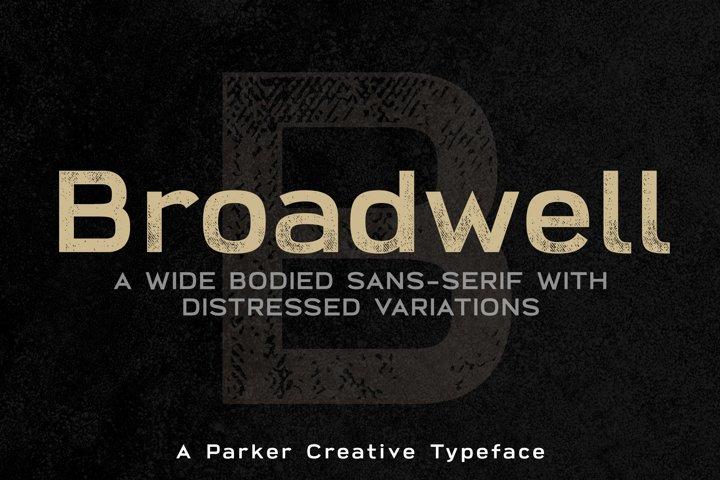Broadwell Bold Distressed Webfont