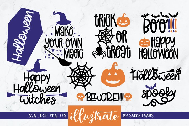 Halloween SVG Bundle | Mini SVG Bundle