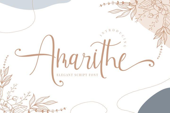 Amarithe - Elegant Script Font