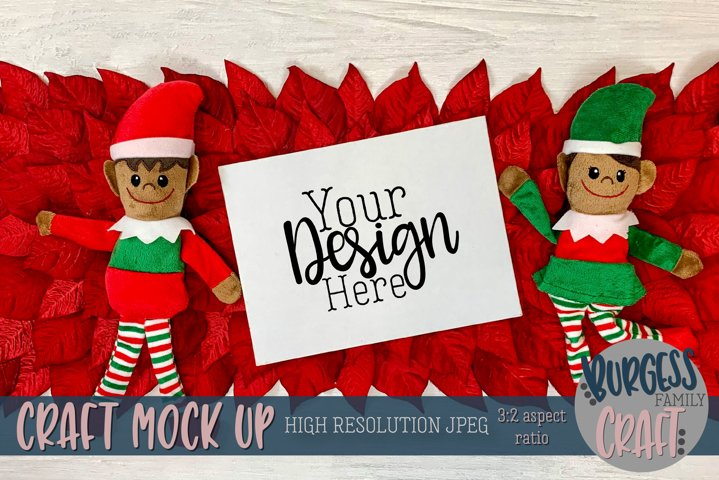Christmas elf with horizontal certificate IV |Craft mock up