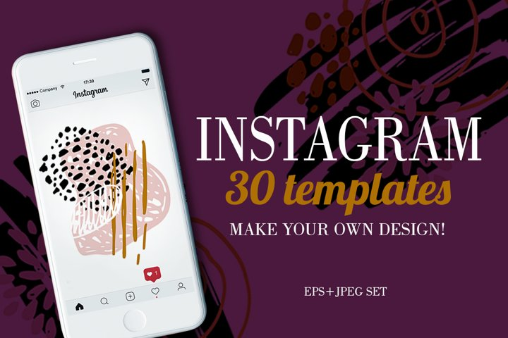 Instagram templates mega set
