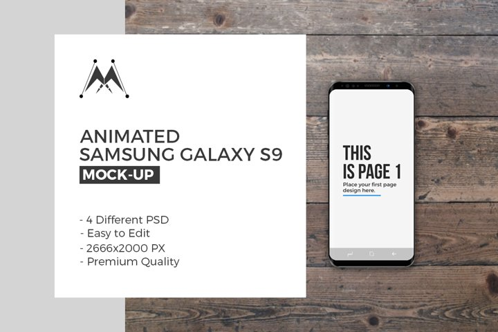 Animated Samsung Galaxy S9 Set
