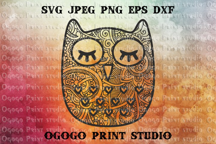 Owl SVG, Mandala svg, Zentangle SVG, Independence svg, USA