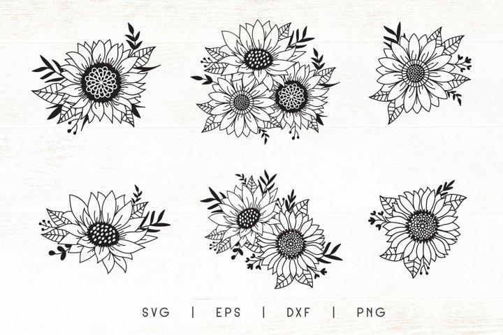 Sunflowers SVG | Sunflower Cliparts | Flower SVG