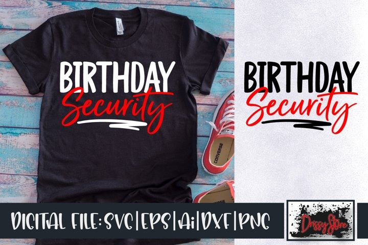 Birthday Security SVG DXF Ai EPS PNG