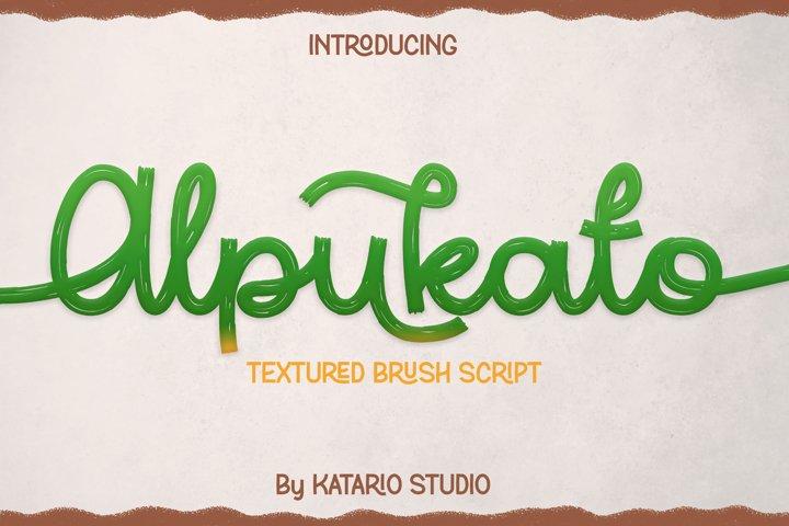 Alpukato | Monoline Textured Brush Script Font