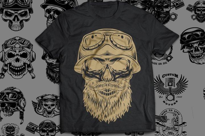 19 Bundle Skull Riderz SVG Cut
