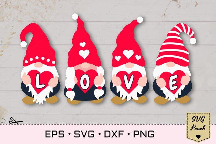 Valentine Gnomes svg