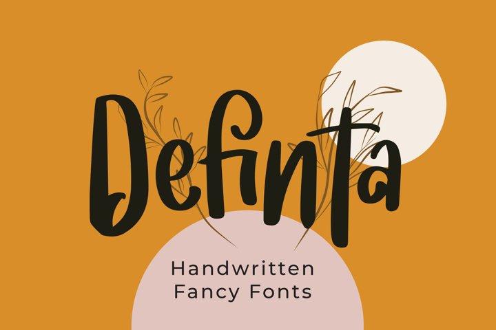 Definta - Fancy Fonts