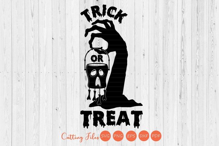 Trick or treat | SVG Cut Files | Halloween Shirt print