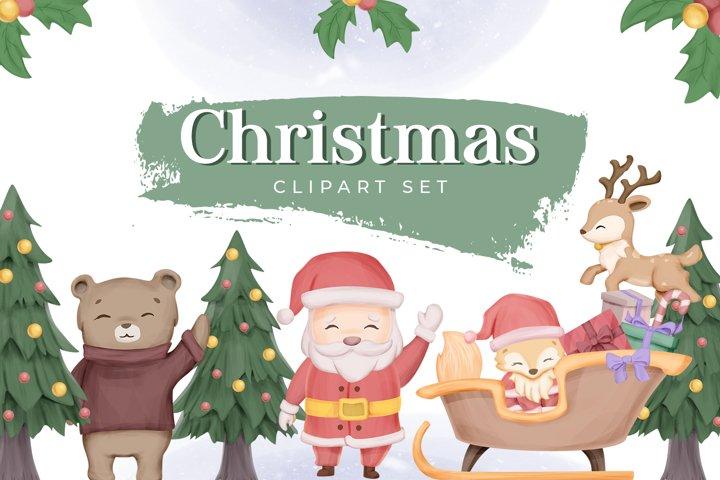 Christmas Clipart Set