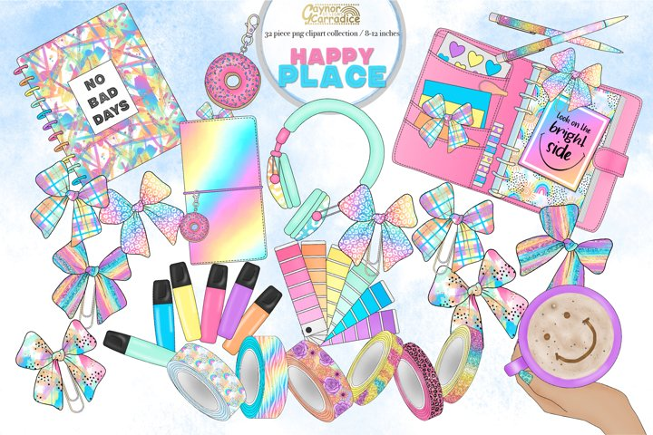 Happy Place- mini planner clipart collection