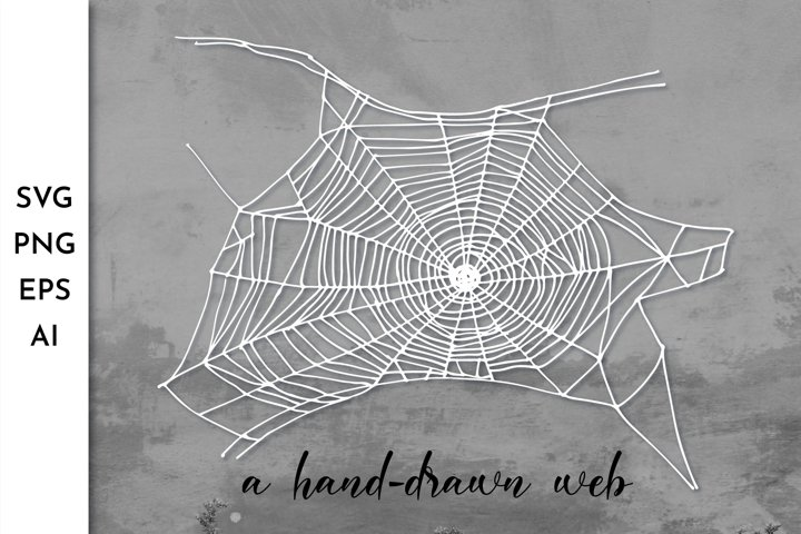 Spider web SVG. Spiderweb. Cobweb. Halloween. Spooky SVG