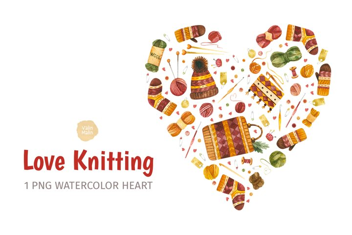 Knitting clipart, Crochet clipart. Gifts for knitters