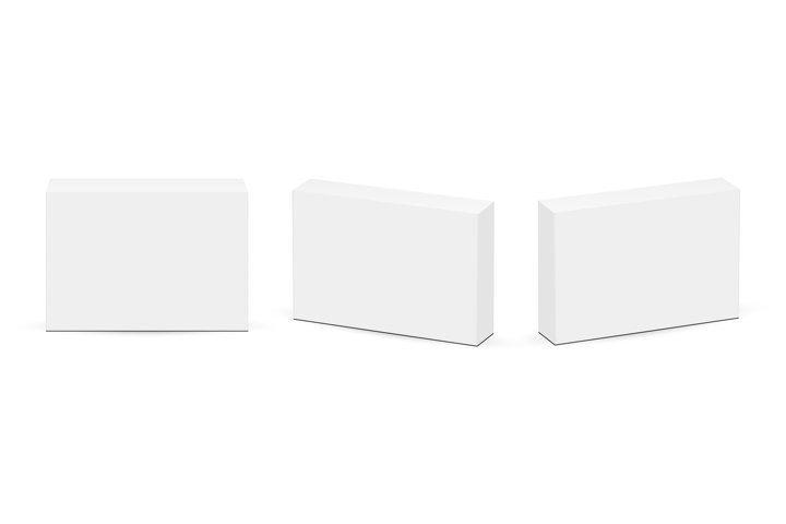 Set of Rectangular Boxes for Pills or Medicaments