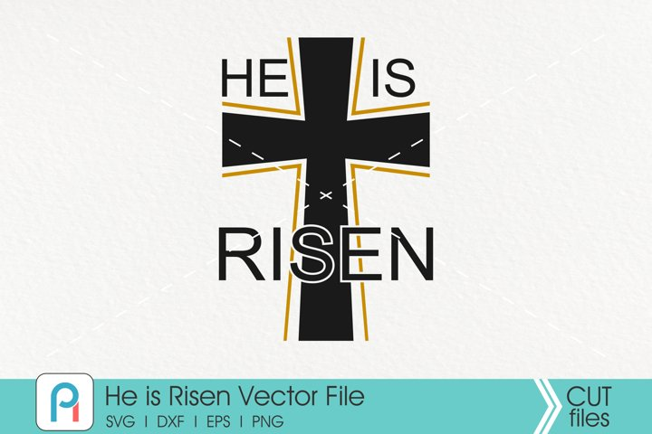 He is Risen Svg, Jesus Svg, Easter Svg, Cross Svg, Bible Svg