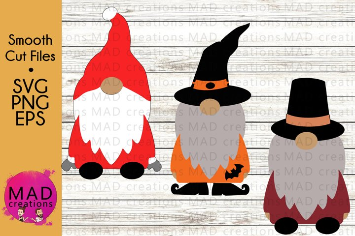 Holiday Gnomes Bundle - Christmas Thanksgiving Halloween