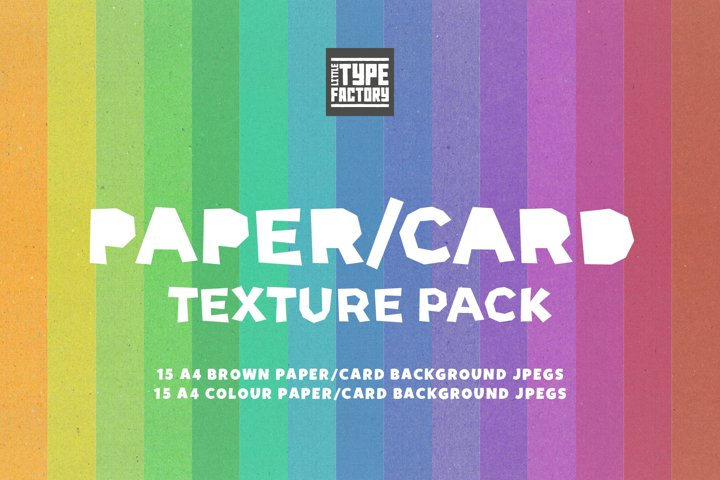 Craft Paper/Card Texture Pack - Digital Papers