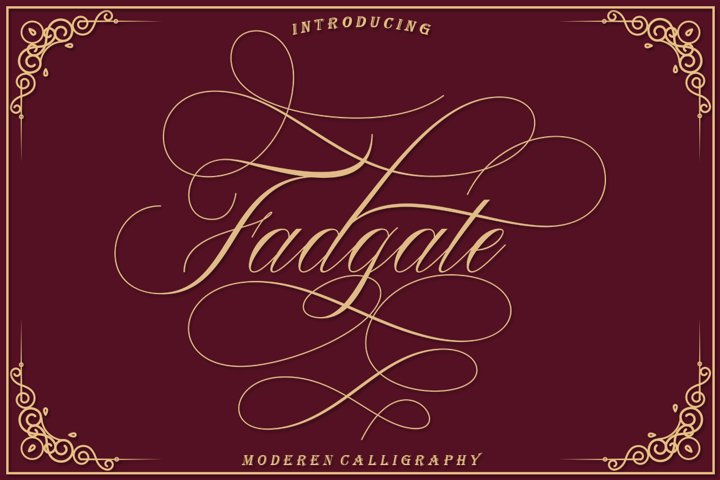 Fadgate - CALLIGRAPHY FONT